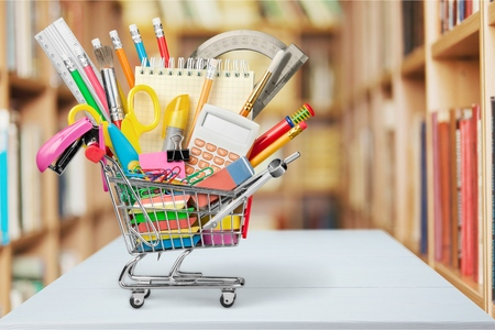 carts: Education, Back to School, Shopping. Stock Photo