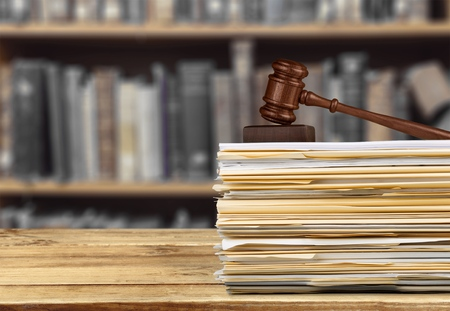stack of documents: Law, Legislation, Document. Stock Photo