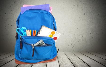 Škola, taška, batoh. Reklamní fotografie