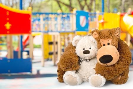 knick: Teddy Bear, Toy, Embracing. Stock Photo
