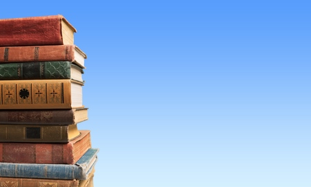 stacked books: Books, old, stacked.