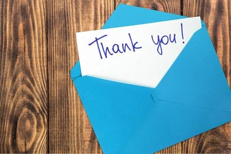 Thank You, Envelope, Gratitude.