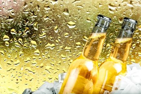 pilsner beer: Beer, Beer Bottle, Ice.