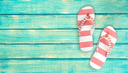 tossing: Flip-flop, Sandal, Tossing. Stock Photo