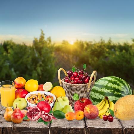 mixed fruits: Fruit, mix, mixed. Stock Photo