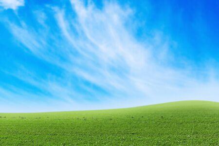 non urban: Sky, Grass, Field. Stock Photo