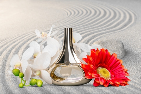 scented: Perfume, Scented, Bottle. Stock Photo