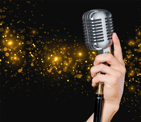 mike: Microphone, radio, mic. Stock Photo