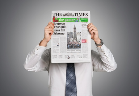 financial newspaper: Newspaper, The Media, Reading.