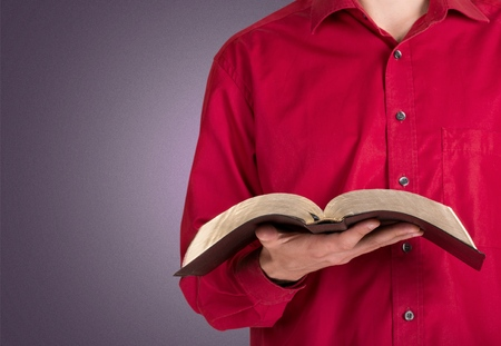 christianity: Bible, Reading, Christianity. Stock Photo