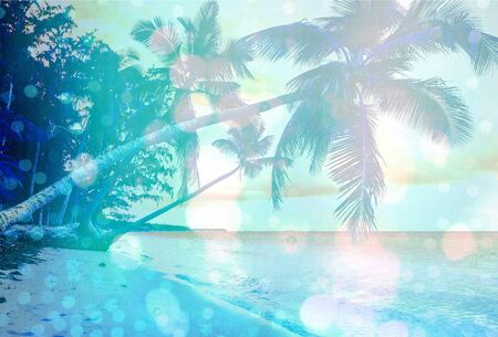 jungle scene: Beach, scene, sunlight.