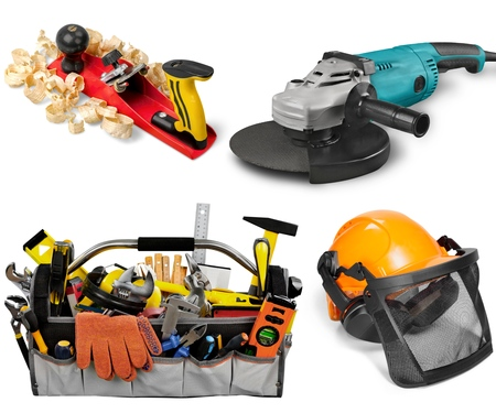 power tool: Power Tool, Drill, Work Tool. Stock Photo