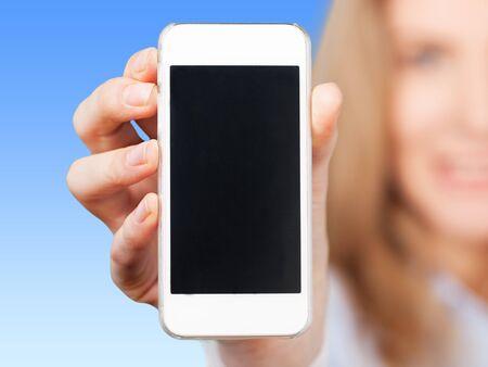 Phone, hand, holding.