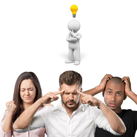 big break: Light Bulb, Ideas, Inspiration. Stock Photo