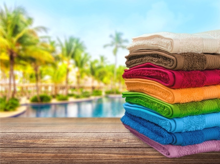 color photography: Towel, Laundry, Stack.