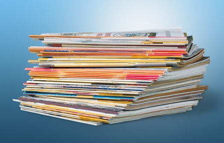 periodical: Magazine, stack, pile.