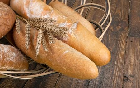 pain: Pain, Miche de pain, Baguette. Banque d'images