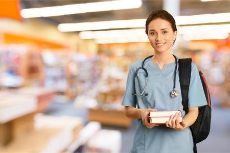 educação: Enfermeira, estudante, educação. Banco de Imagens