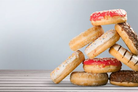 Donut, Unhealthy Eating, Dessert. Stock Photo