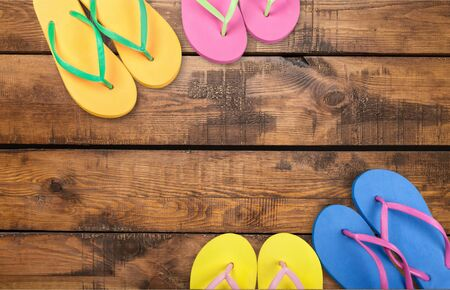 personal accessory: Flip-flop, Sandal, Personal Accessory. Stock Photo