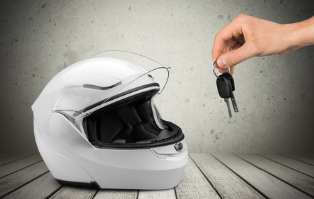 crash helmet: Helmet, Motorcycle, Crash Helmet. Stock Photo