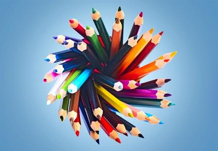 leíró szín: Ceruza, színes kép, leíró szín. Stock fotó
