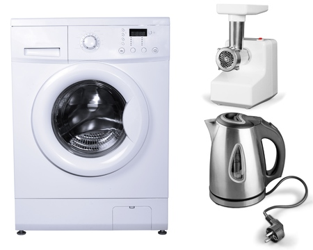 major household appliance: Clothes Washer, Appliance, Washing. Stock Photo