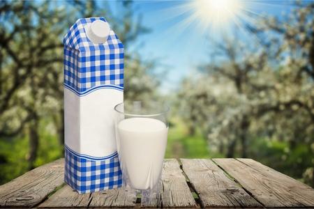 milk carton: Milk, Carton, Packaging. Stock Photo