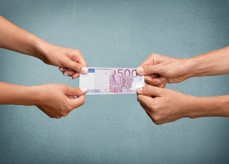 pulling money: Human Hand, Pulling, Currency.