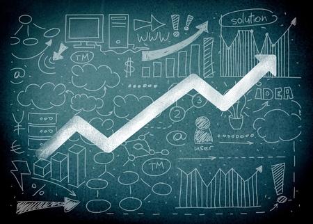 市場では、リーダーシップ、統計。 写真素材