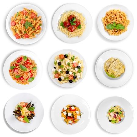 pasta salad: Salad, Pasta, Pasta Salad. Stock Photo
