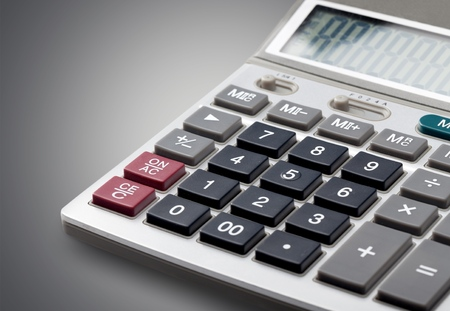 office supply: Calculator, Isolated, Office Supply. Stock Photo