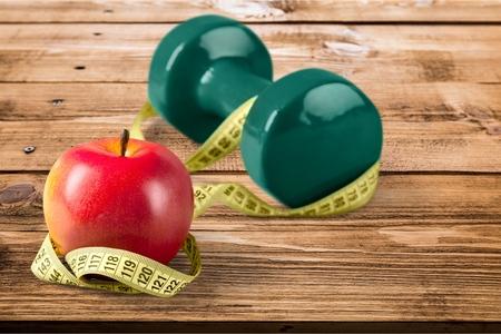 dieting: Dieet, gezond eten, gewicht. Stockfoto