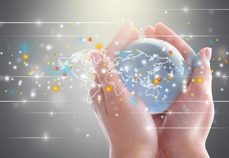 Network, networking, business. Standard-Bild