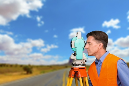 surveyor: Surveyor, Land, Development. Stock Photo