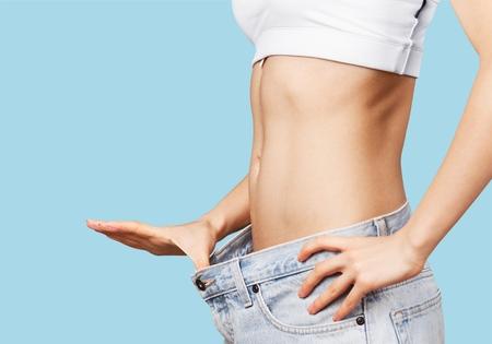 Gewicht, vet, vetheid. Stockfoto