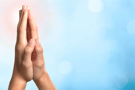 christianity: Praying, Human Hand, Christianity.