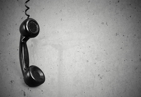 telephone receiver: Telephone, Old, fashioned. Stock Photo