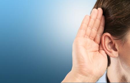 human ear: Listen, ear, hear.