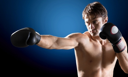 muscular build: Boxing, Athlete, Muscular Build.