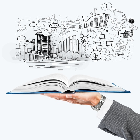 real estate growth: Real, book, civil. Stock Photo