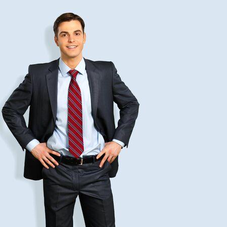 suit: Businessman, Suit, Men. Stock Photo
