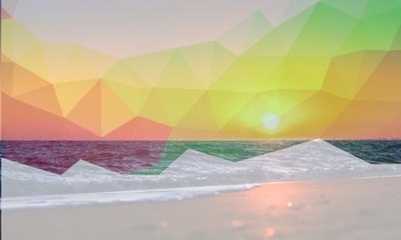 Beach, Sunset, Sea.