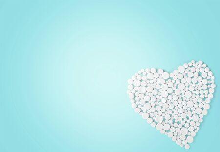 erectile: Viagra, Pill, Heart Shape.