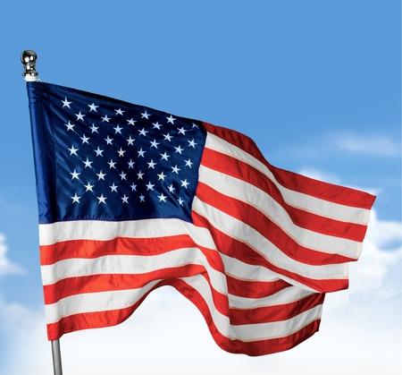 Amerikaanse vlag, Vlag, Amerikaanse cultuur. Stockfoto