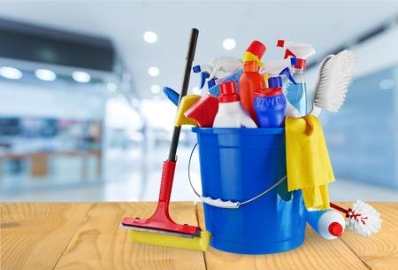 productos quimicos: Limpia la casa, limpia. Foto de archivo