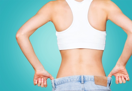 women s health: Weight, loss, success. Stock Photo