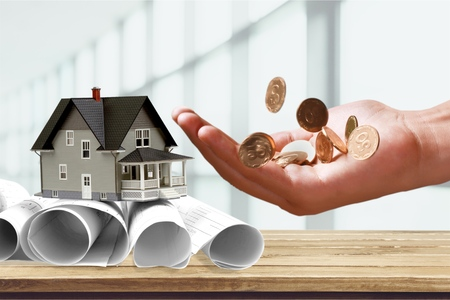 path to wealth: Currency, Savings, Coin. Stock Photo