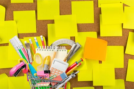 Education, Back to School, Shopping. Stock Photo