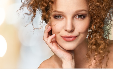 pretty woman face: Women, Beauty, Human Face. Stock Photo